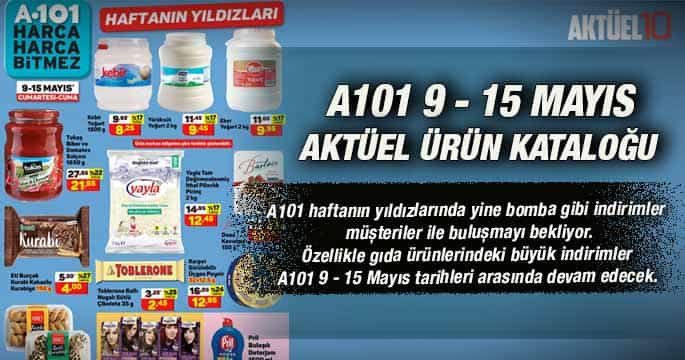 A101 9-15 Mayıs 2020 Aktüel Ürünleri Yayınlandı