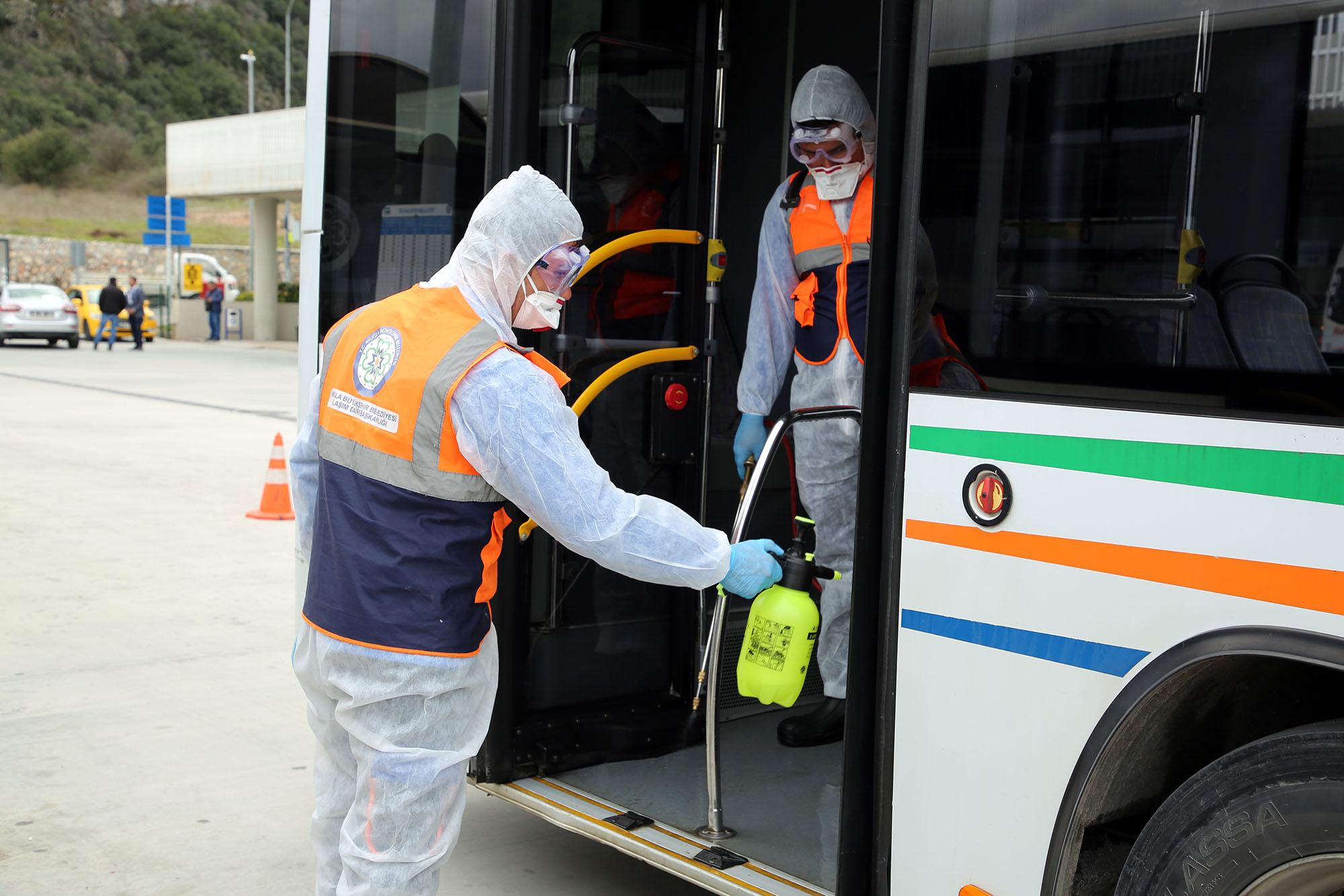 Muğla Büyükşehir Belediyesi ulaşımda 82 Bin 655 adet dezenfekte yaptı