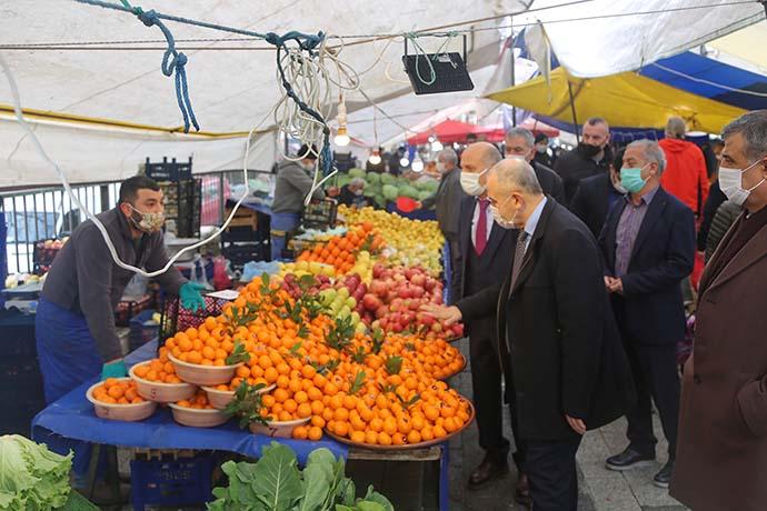 Maltepe Belediyesi semt pazarında denetlemeler yaptı