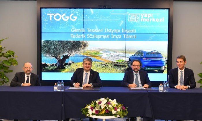 TOGG Gemlik Tesisi'nin   inşaatı için Yapı Merkezi seçildi